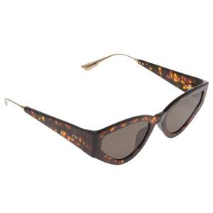 Dior Brown Havana/ Grey CatStyle Dior1 Cat Eye Sunglasses