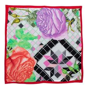Dior Multicolour La Rose Des Vents Silk Scarf