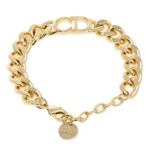 Dior Gold Tone CD Logo Danseuse Étoile Bracelet