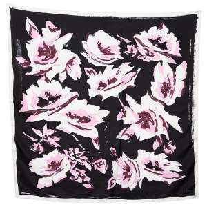 Dior Multicolor Abstract Printed Silk Scarf