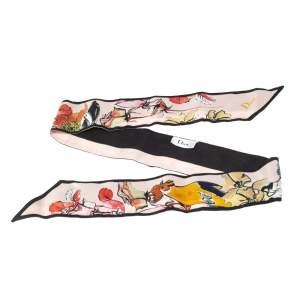 Dior Floral Mitzah Printed Silk Twilly