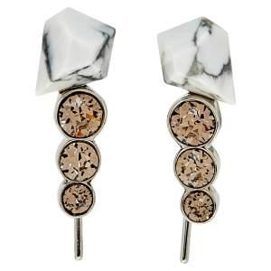 Dior Howlite & Crystal Climber Earrings