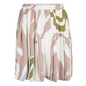 Dior Multicolor Printed Silk Pleated Skirt S