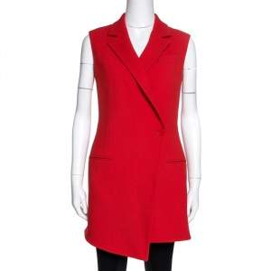 Dior Red Wool Mini Coat Dress M