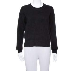 Dior Black Cashmere J'ADIOR 8 Crewneck Sweater S