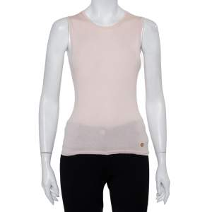 Christian Dior Beige Cashmere & Silk Sleeveless Jumper M