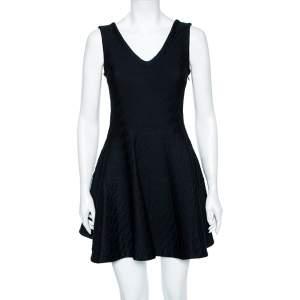 Dior Black Textured Knit Sleeveless Textured Mini Dress S