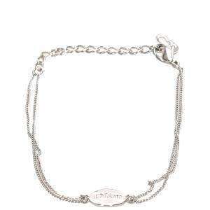 Dior Silver Logo Charm Bracelet
