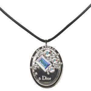 Dior Silver Cristal Boreal Lipgloss Pendant Necklace