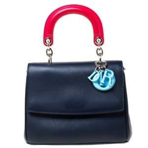 Dior Blue/Red Leather Be Dior Shoulder Bag
