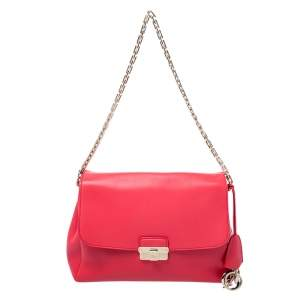 Dior Red Leather Large Diorling Shoulder Bag