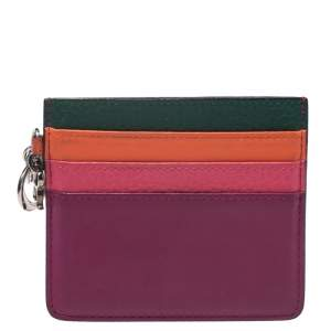 Dior Multicolor Leather Lady Dior Card Holder