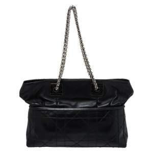 حقيبة يد ديور سلسلة غرينفيل جلد كاناج سوداء