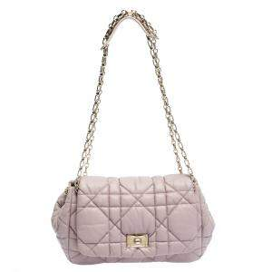 Dior Pink Leather Milly La Foret Shoulder Bag