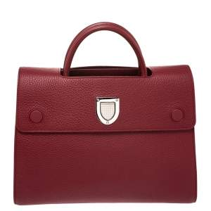 """حقيبة يد ديور """"ديوريفر"""" متوسطة جلد أحمر"""