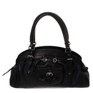 """حقيبة ديور """"مي ديور"""" بإطار كبيرة جلد أسود"""