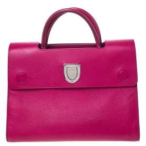 """حقيبة يد ديور """"ديوريفر"""" متوسطة جلد فوشيا"""