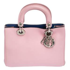 Dior Pink Leather Mini Diorissimo Tote