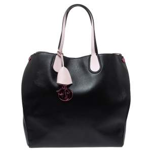 Dior Black Leather Dior Addict Vertical Tote