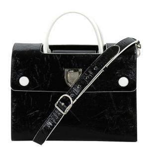حقيبة ديور ديورفر متوسطة جلد سوداء متوسطة بيد علوية