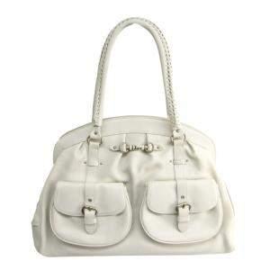 حقيبة ديور ماي ديور جلد أبيض