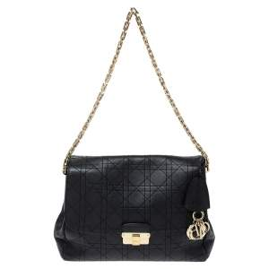Dior Black Cannage Leather Large Diorling Shoulder Bag