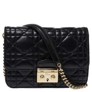 Dior Black Cannage Leather Mini Miss Dior Bag