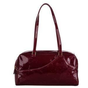 Dior Red Patent Leather Oblique Shoulder Bag