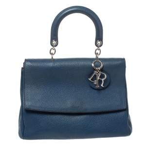 Dior Blue Leather Medium Be Dior Top Handle Bag