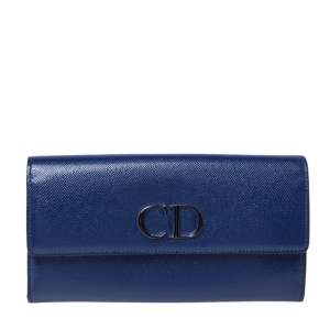 Dior Blue Patent Leather Mania Rendez-Vous Wallet on Chain