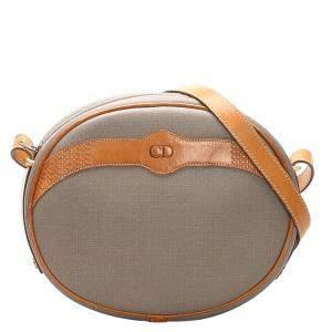 Dior Brown Coated Canvas Crossbody Bag