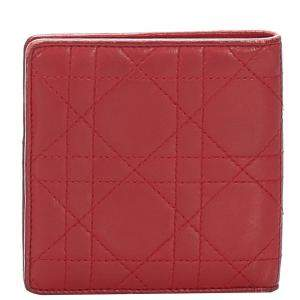 Dior Red Cannage Leather Wallet