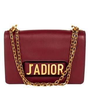 Dior Burgundy Leather J'adior Shoulder Bag