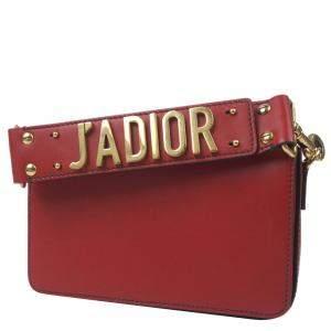 Dior Red Leather J'Adior Shoulder Bag