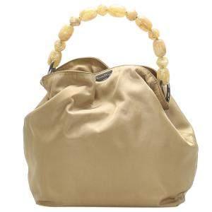 Dior Brown Nylon Malice Top Handle Bag