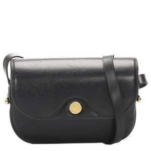 Dior Black Leather Shoulder Bag