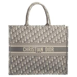 Dior Grey Oblique Canvas Book Tote