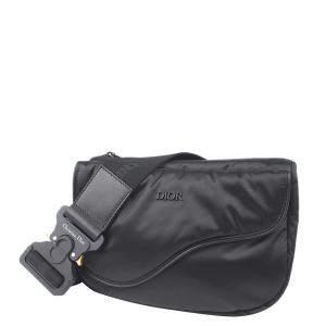 Dior Black Nylon Saddle Belt Bag
