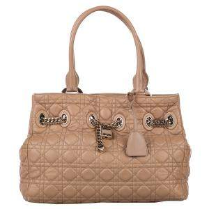 Dior Brown Cannage Leather Chri Chri Tote