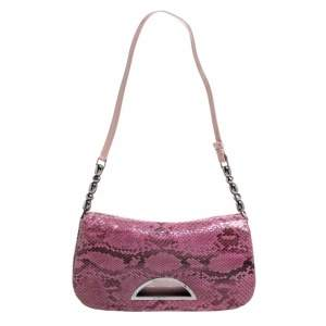 Dior Pink Python Malice Shoulder Bag