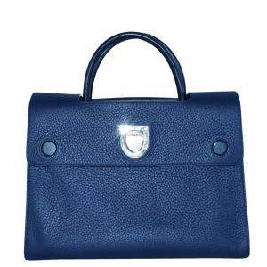 Dior Blue Leather Diorever Medium Bag