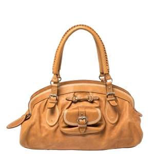 Dior Brown Leather My Dior Satchel