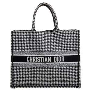Dior Black/White Canvas Book Tote