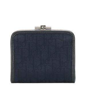 Dior Blue Oblique Canvas Coin Pouch