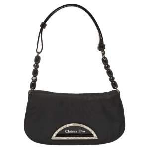 Dior Black Nylon Vintage Small Malice Bag