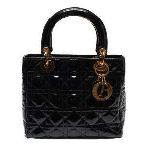 Dior Black Quilted Leather Vintage Lady Dior Mini Bag