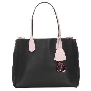 Dior Black Addict Leather Tote Bag