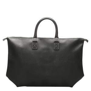 Dior Black Honeycomb Leather Travel Bag