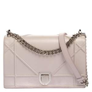 Dior Light Pink Leather Medium Diorama Shoulder Bag