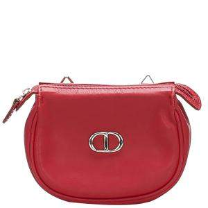 Dior Red Leather Crossbody Bag